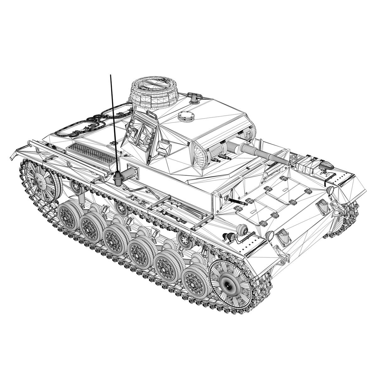 sd.kfz 141 pzkpfw 3 – panzer 3 – ausf.e 3d model 3ds fbx c4d lwo obj 189124