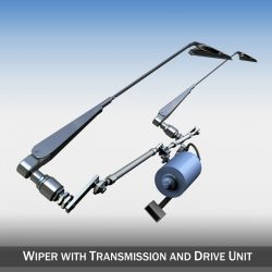 Wiper with transmission and drive unit 3d model 3ds fbx c4d lwo lws lw obj