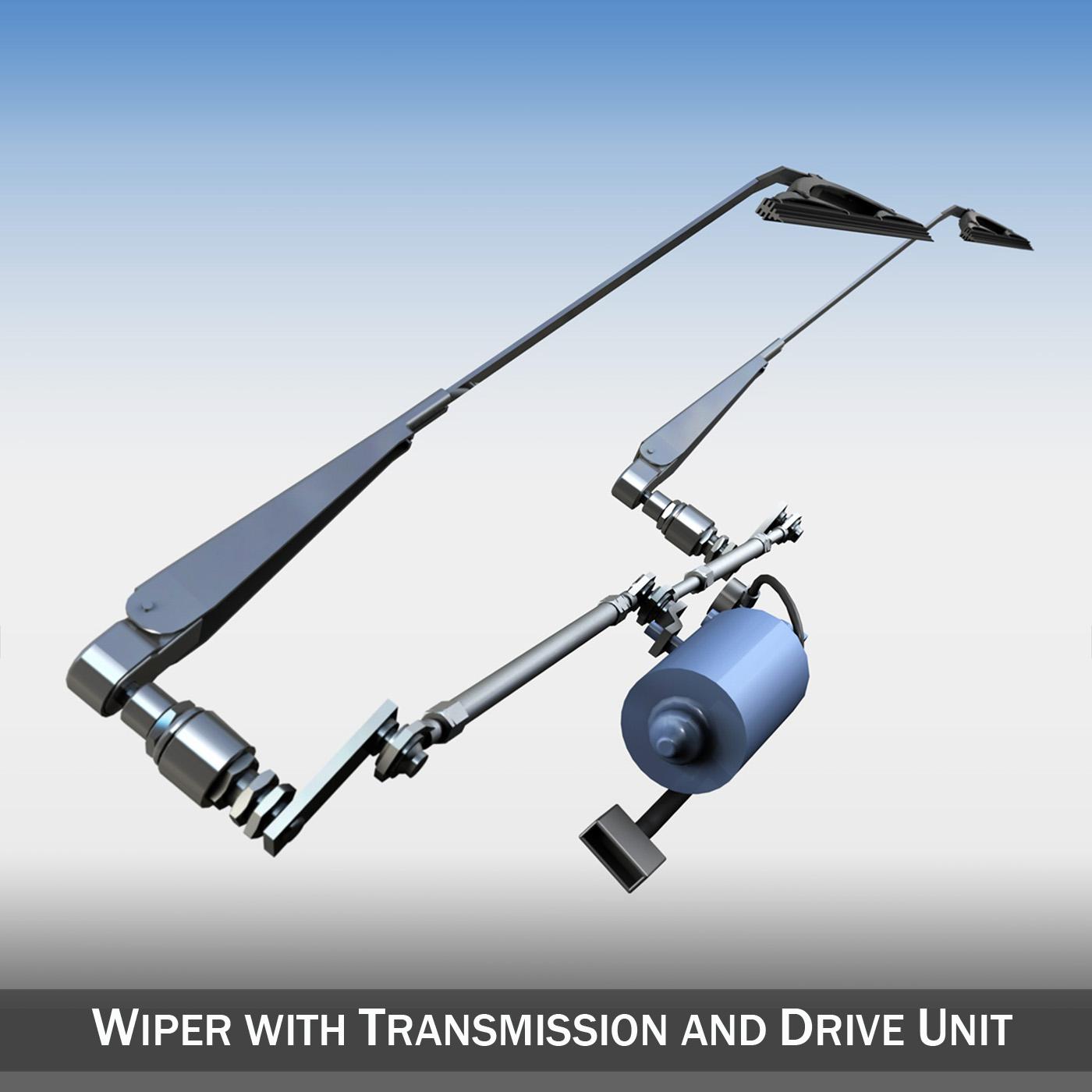 Wiper with transmission and drive unit 3d model 3ds fbx c4d lwo lws lw obj 189155