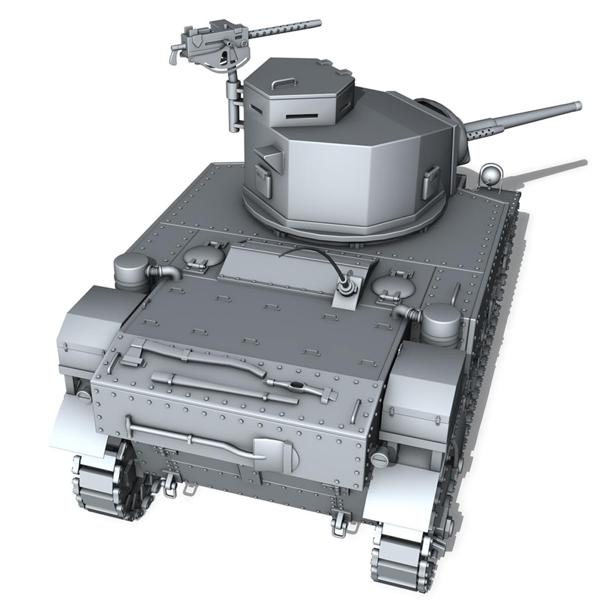 m3 light tank stuart – early production 3d model 3ds fbx c4d lwo obj 189173