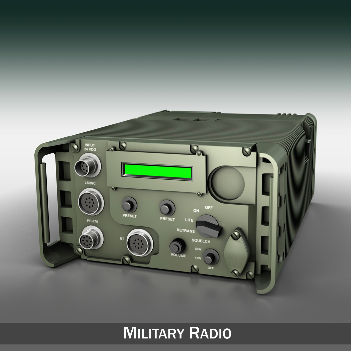 uhf military data radio 3d model 3ds fbx c4d lwo obj 189258