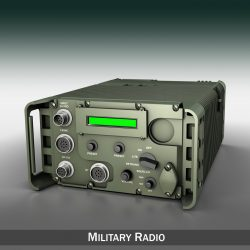 UHF Military data radio 3d model 3ds fbx c4d lwo lws lw obj