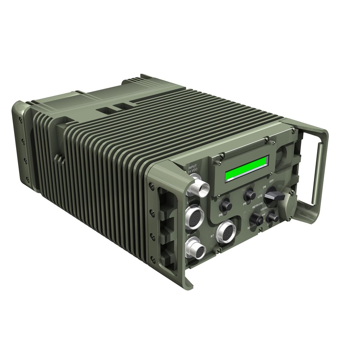 uhf military data radio 3d model 3ds fbx c4d lwo obj 189259