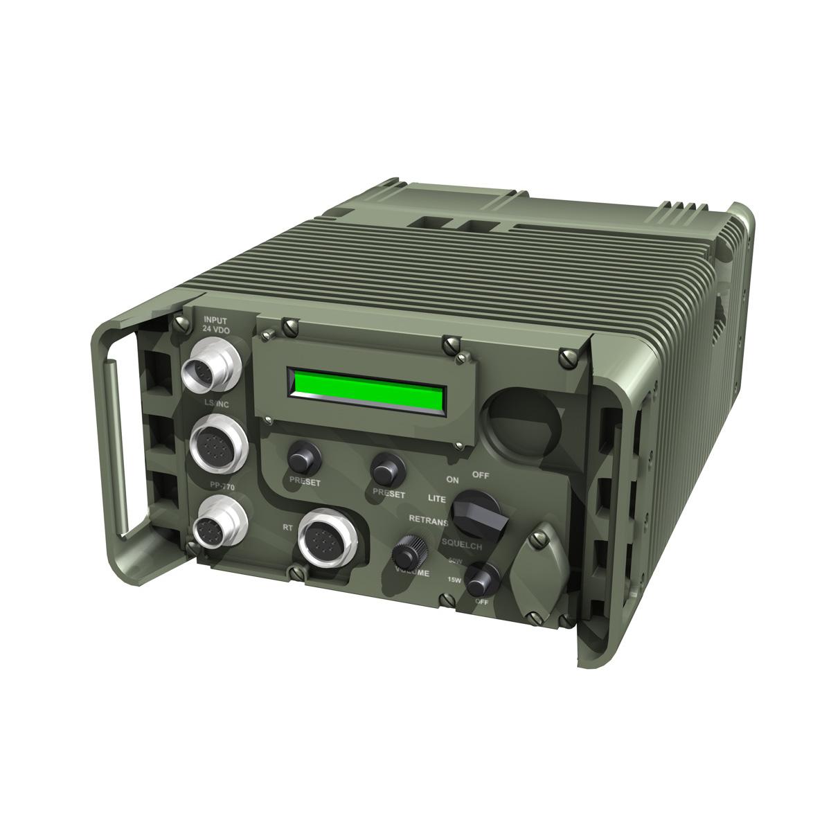 uhf military data radio 3d model 3ds fbx c4d lwo obj 189260