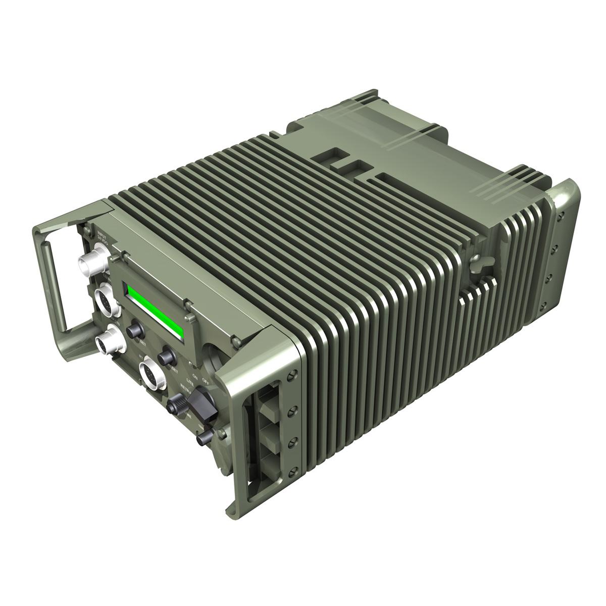 uhf military data radio 3d model 3ds fbx c4d lwo obj 189261