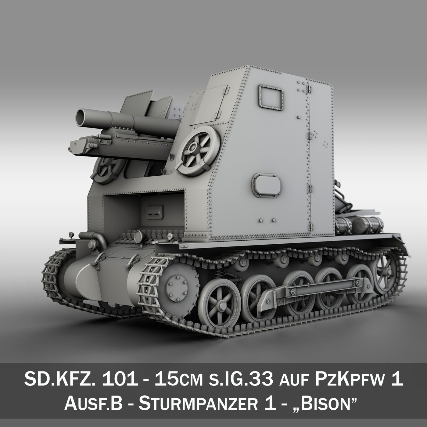 sd.kfz 101 – sturmpanzer 1 – bison 3d model 3ds fbx c4d lwo obj 189271