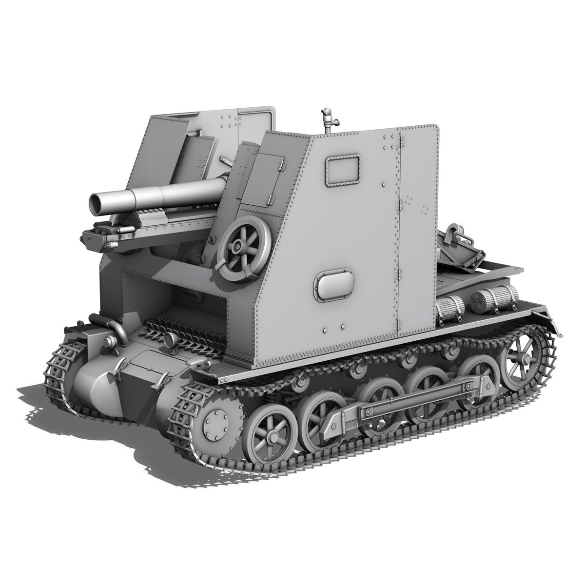 sd.kfz 101 – sturmpanzer 1 – bison 3d model 3ds fbx c4d lwo obj 189272