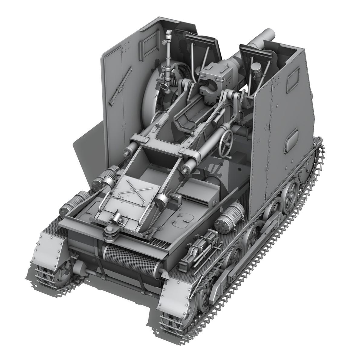 sd.kfz 101 – sturmpanzer 1 – bison 3d model 3ds fbx c4d lwo obj 189274