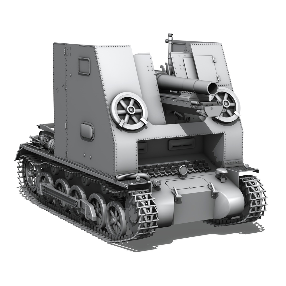 sd.kfz 101 – sturmpanzer 1 – bison 3d model 3ds fbx c4d lwo obj 189275