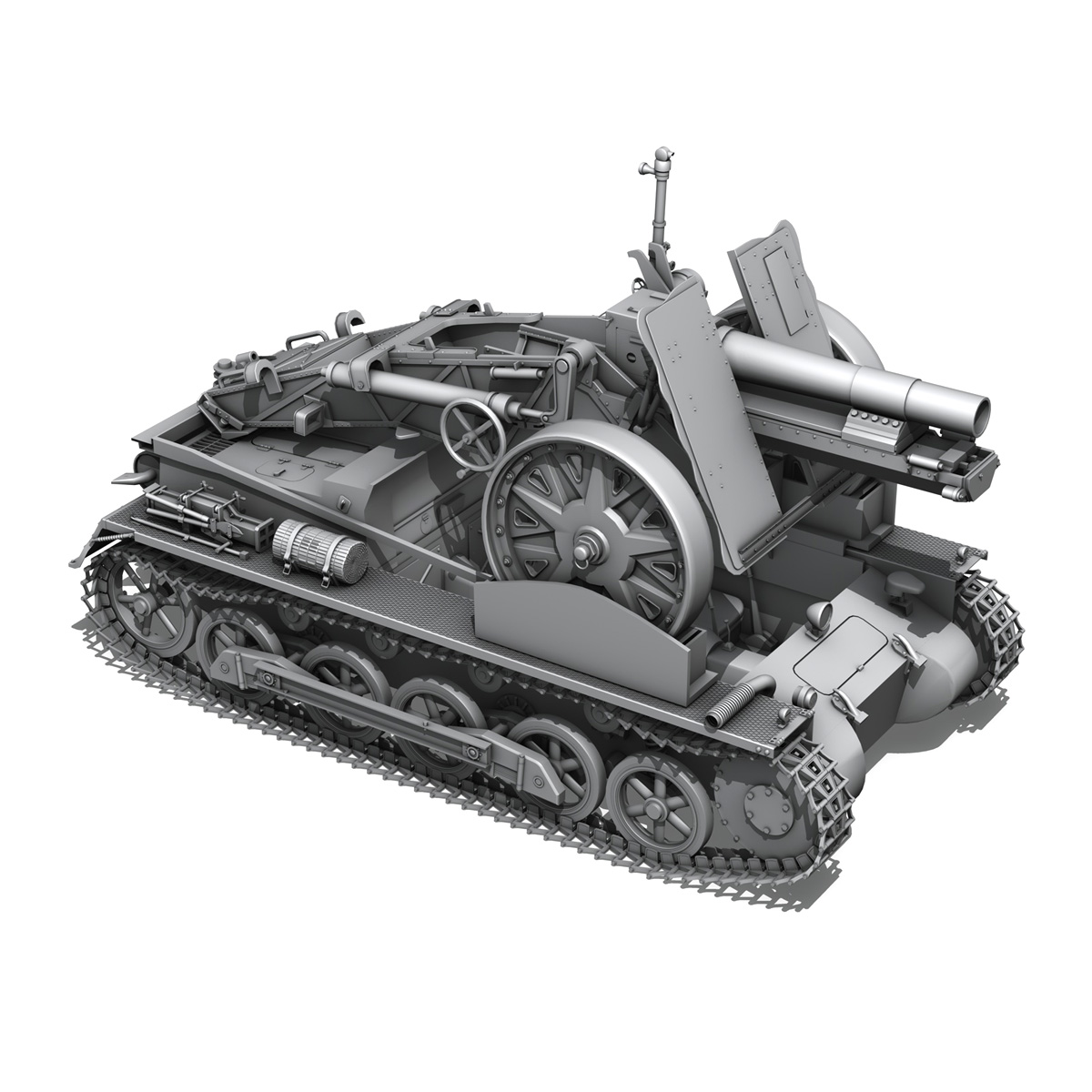sd.kfz 101 – sturmpanzer 1 – bison 3d model 3ds fbx c4d lwo obj 189276
