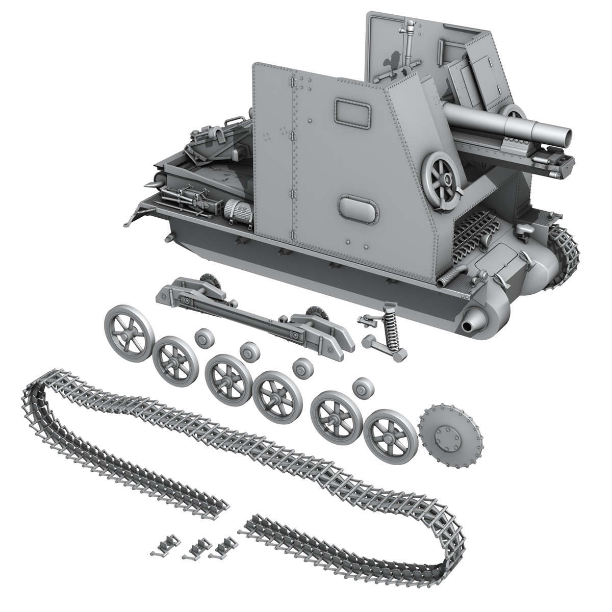 sd.kfz 101 – sturmpanzer 1 – bison 3d model 3ds fbx c4d lwo obj 189279