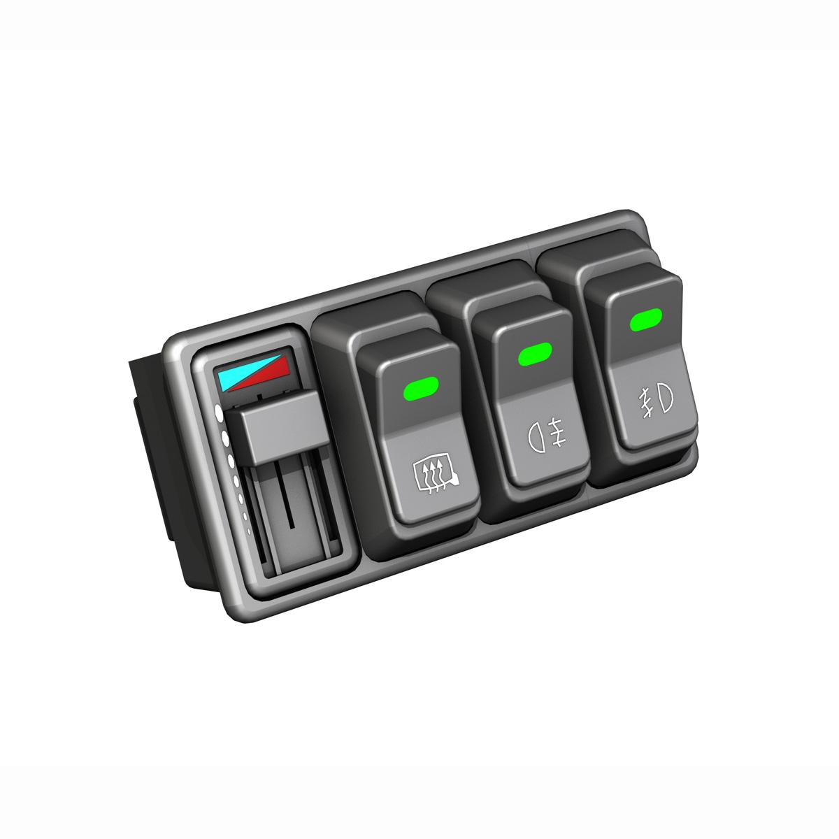 rocker switches for vehicle 3d model 3ds fbx c4d lwo obj 189299