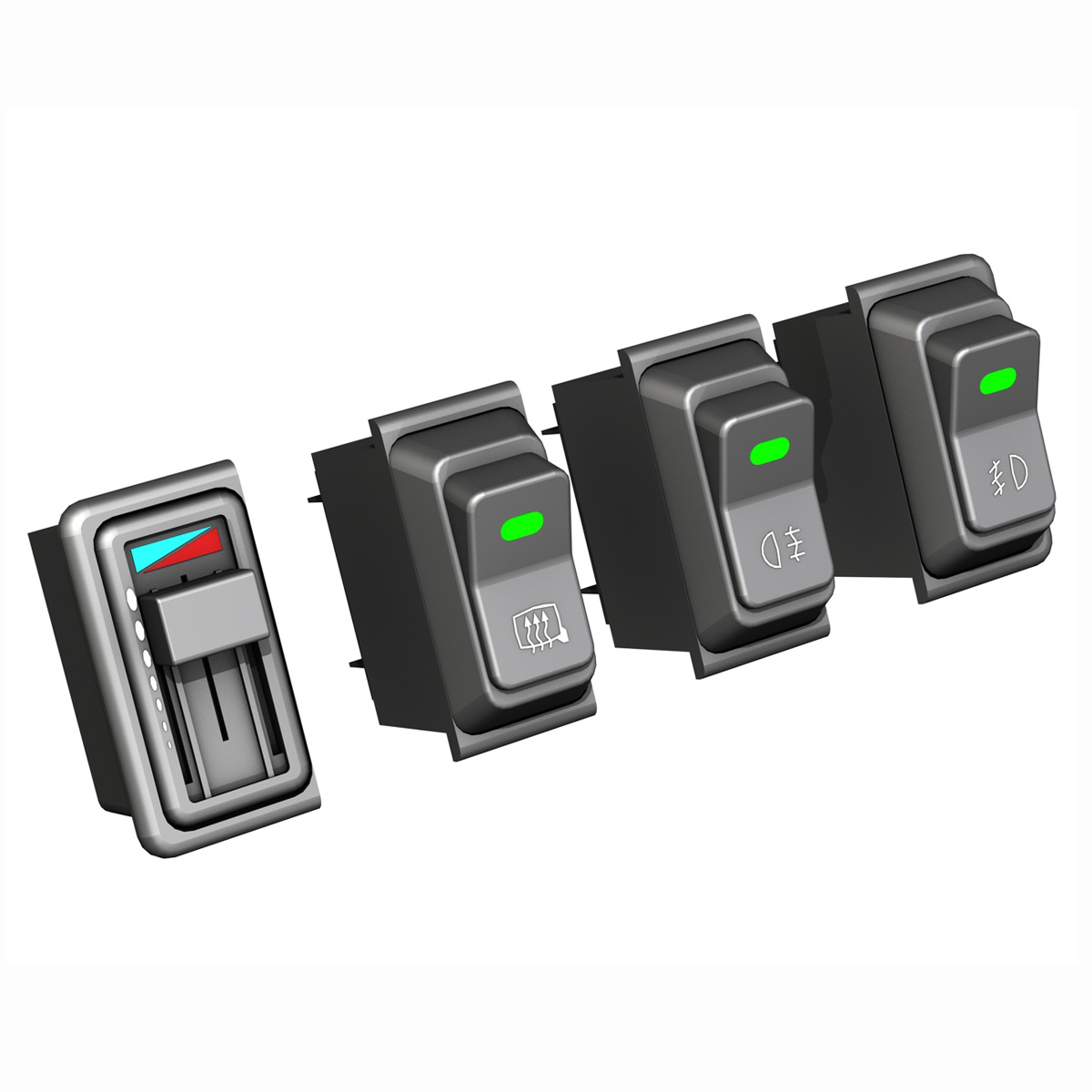 rocker switches for vehicle 3d model 3ds fbx c4d lwo obj 189300