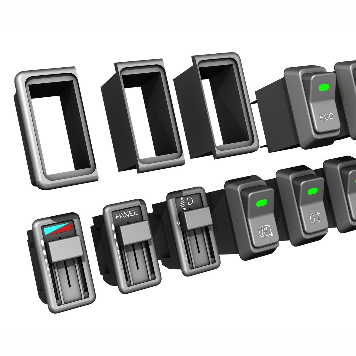 rocker switches for vehicle 3d model 3ds fbx c4d lwo obj 189301