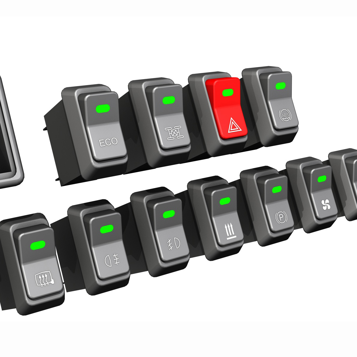 Rocker switches for vehicle