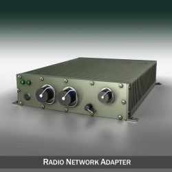 Radio network adapter 3d model 0