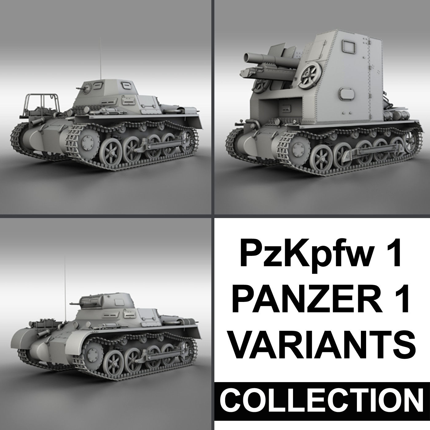 panzerkampfwagen 1 – panzer 1 collection 3d model 3ds fbx c4d lwo obj 189336