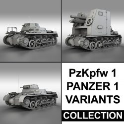 Panzerkampfwagen 1 - Panzer 1 Collection 3d model 0