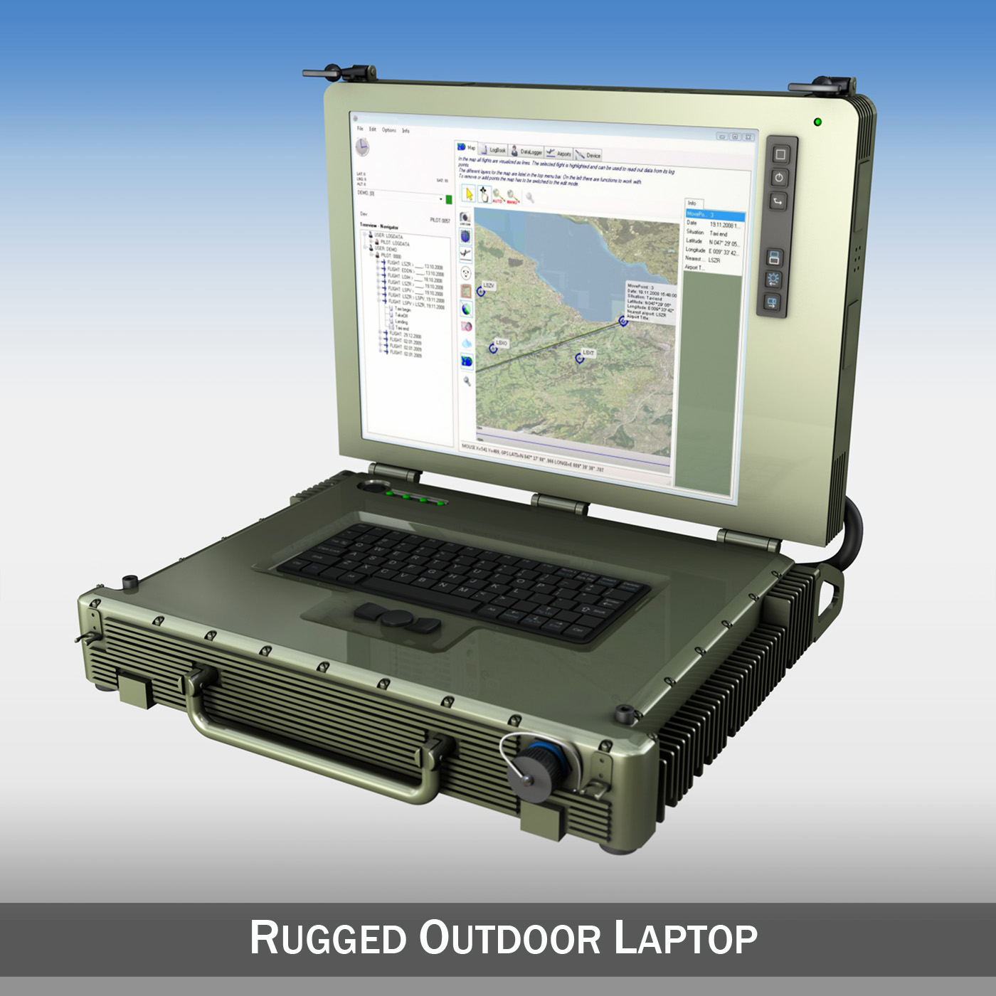 rugged military outdoor laptop 3d model 3ds fbx c4d lwo obj 189351