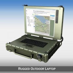 Rugged Military outdoor laptop 3d model 0