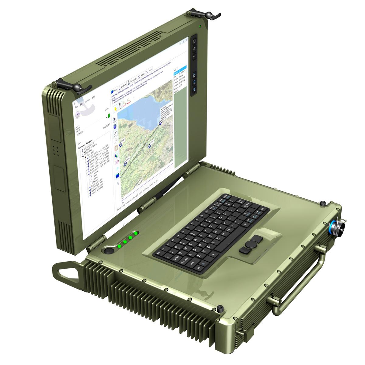 rugged military outdoor laptop 3d model 3ds fbx c4d lwo obj 189356
