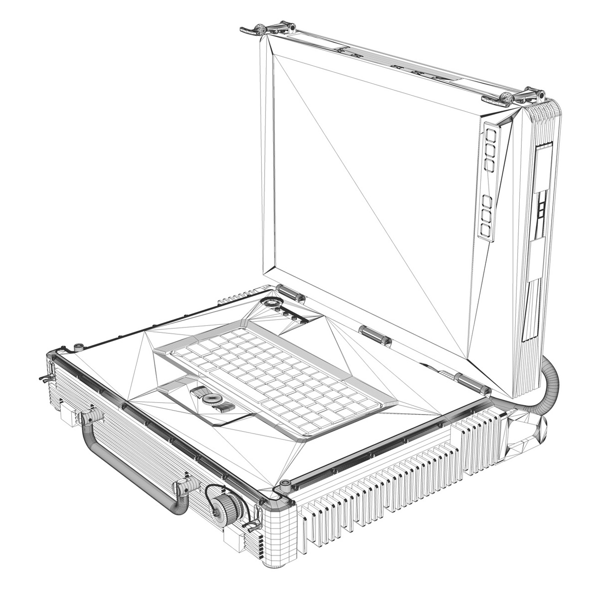 rugged military outdoor laptop 3d model 3ds fbx c4d lwo obj 189359
