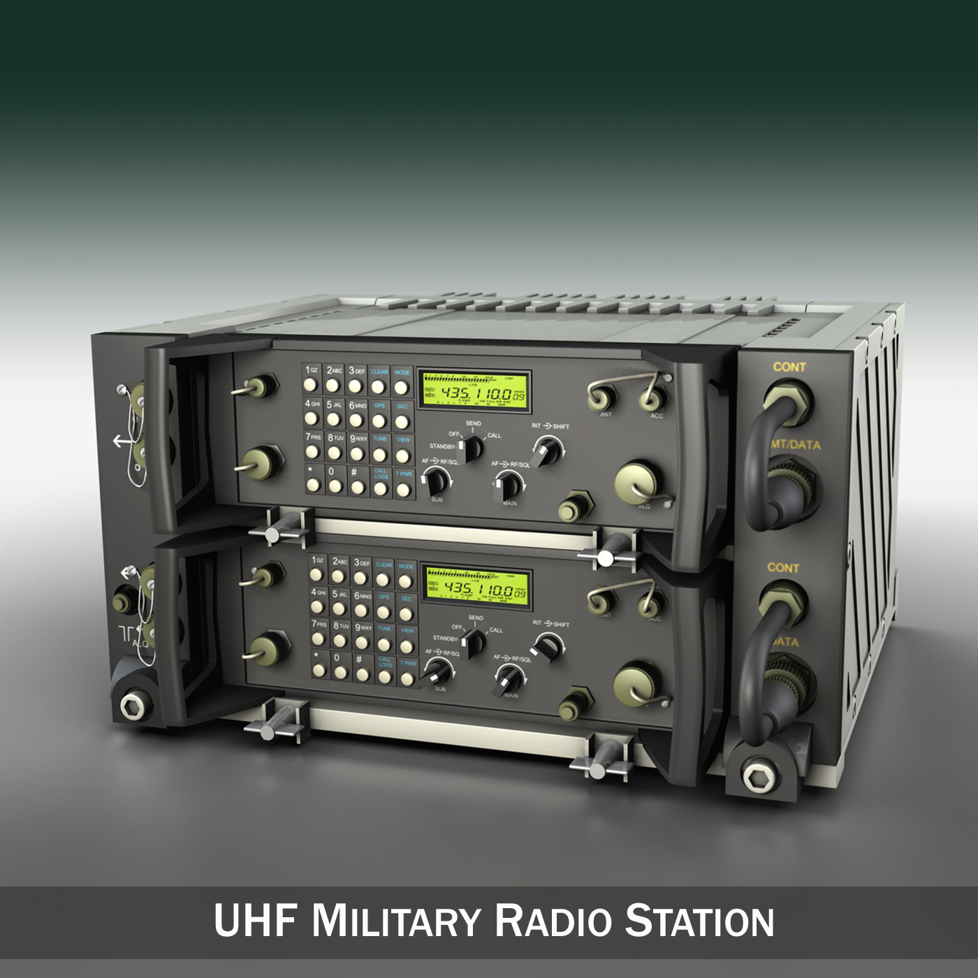 uhf military radio system 3d model 3ds fbx c4d lwo obj 189364