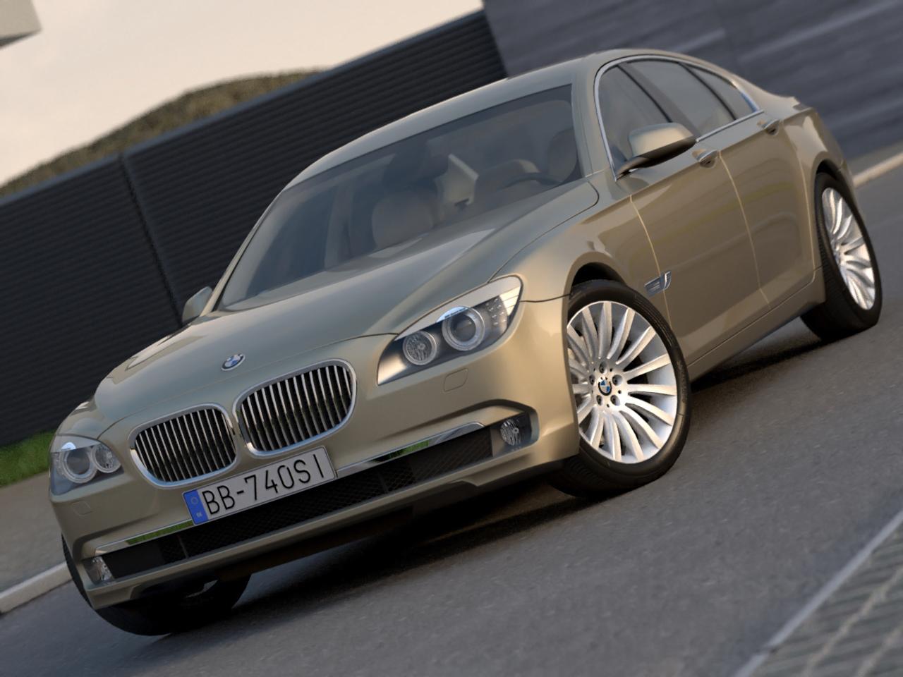 BMW 7 series (2009) 3d model 3ds max fbx c4d obj 189385