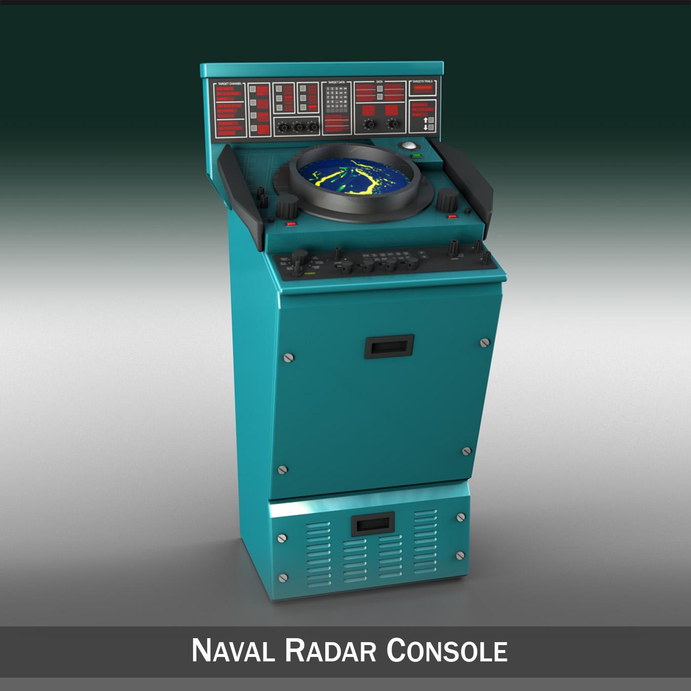 naval radar console 3d model 3ds fbx c4d lwo obj 189430