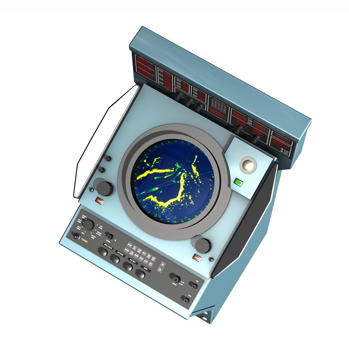 naval radar console 3d model 3ds fbx c4d lwo obj 189436