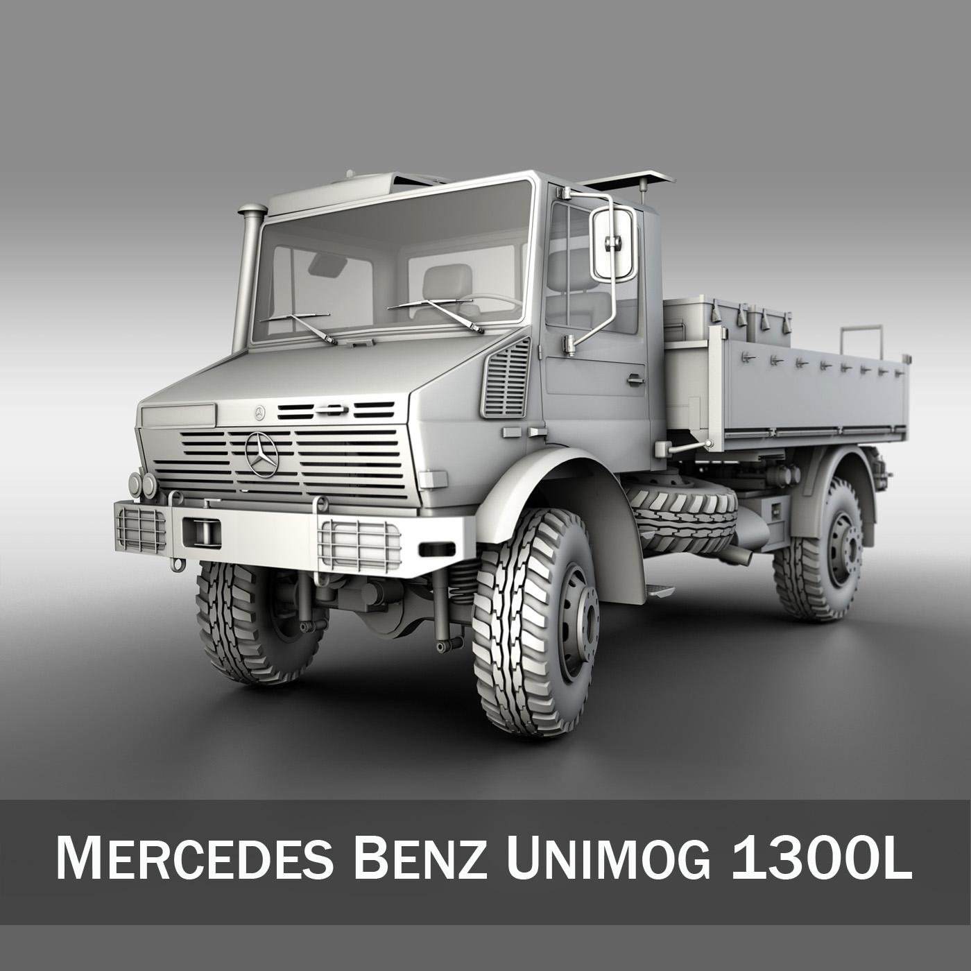 Mercedes Benz Unimog U1300L 3D Model – Buy Mercedes Benz Unimog