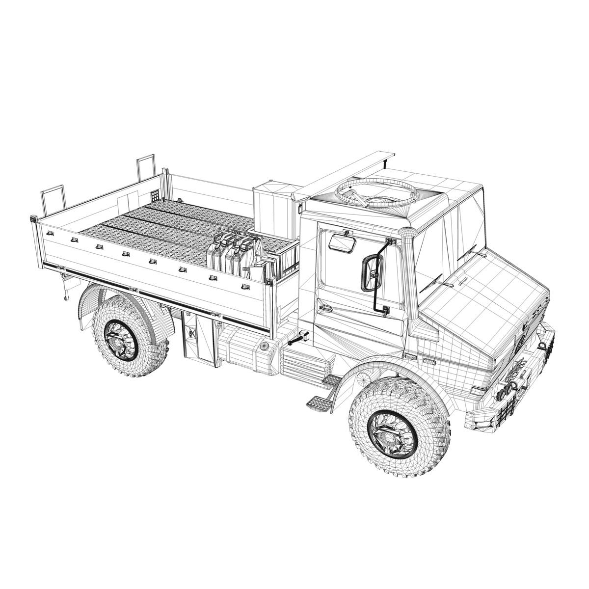 mercedes benz unimog u1300l 3d model fbx c4d lwo obj 189498