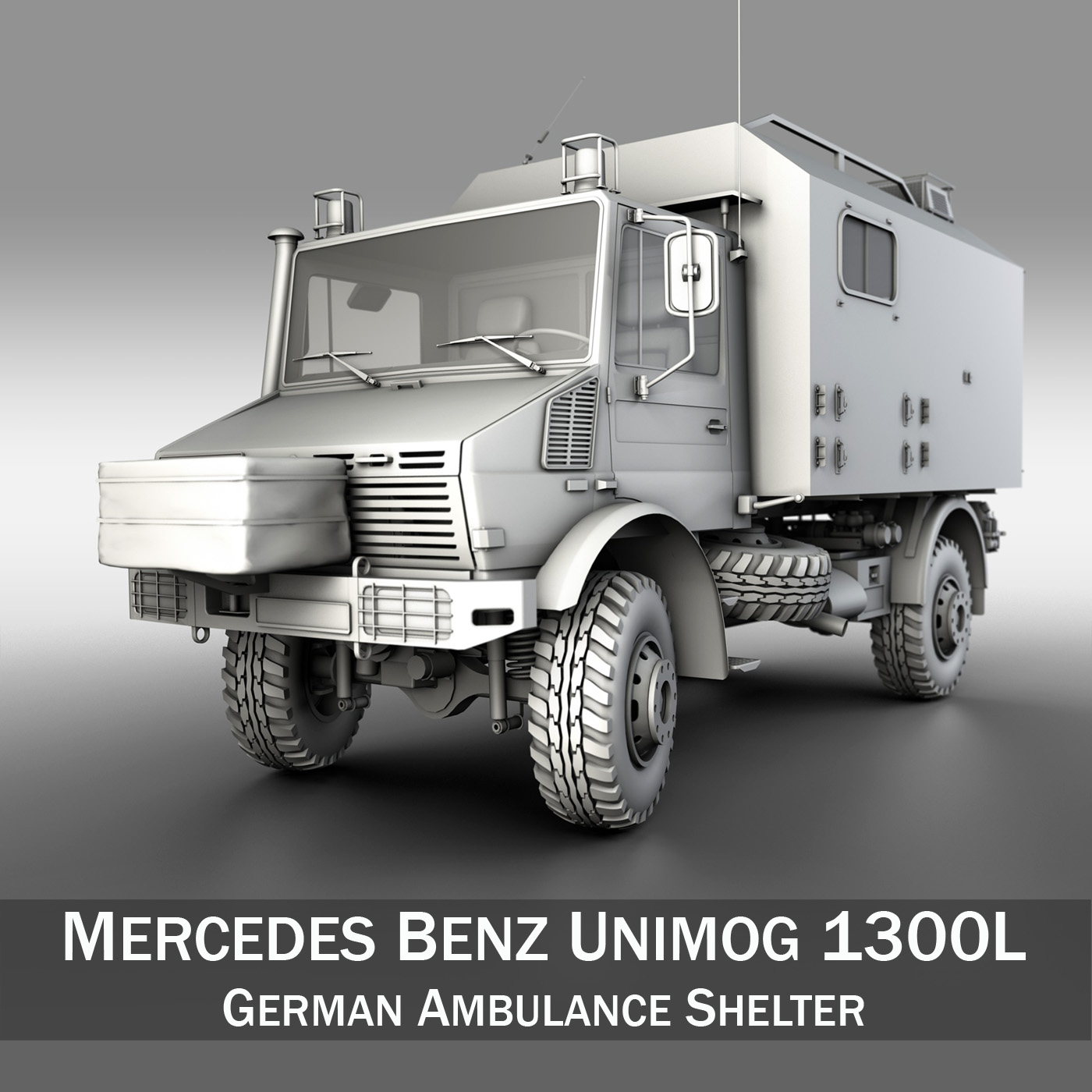 mercedes benz unimog u1300l ambulance 3d model 3ds fbx c4d lwo obj 189534
