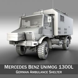 Mercedes Benz Unimog U1300L Ambulance 3d model 0