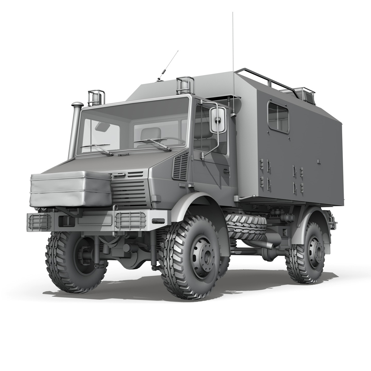mercedes benz unimog u1300l ambulance 3d model 3ds fbx c4d lwo obj 189535