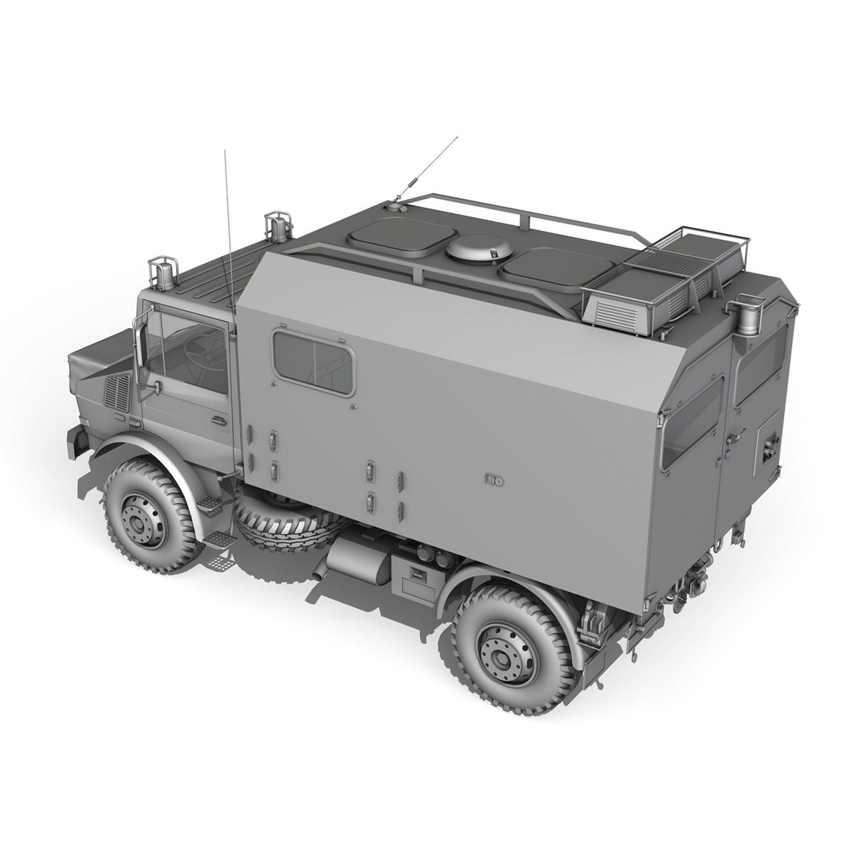 mercedes benz unimog u1300l ambulance 3d model 3ds fbx c4d lwo obj 189537