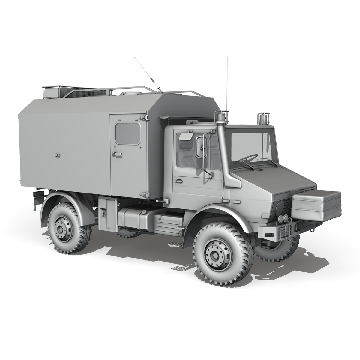 mercedes benz unimog u1300l ambulance 3d model 3ds fbx c4d lwo obj 189540