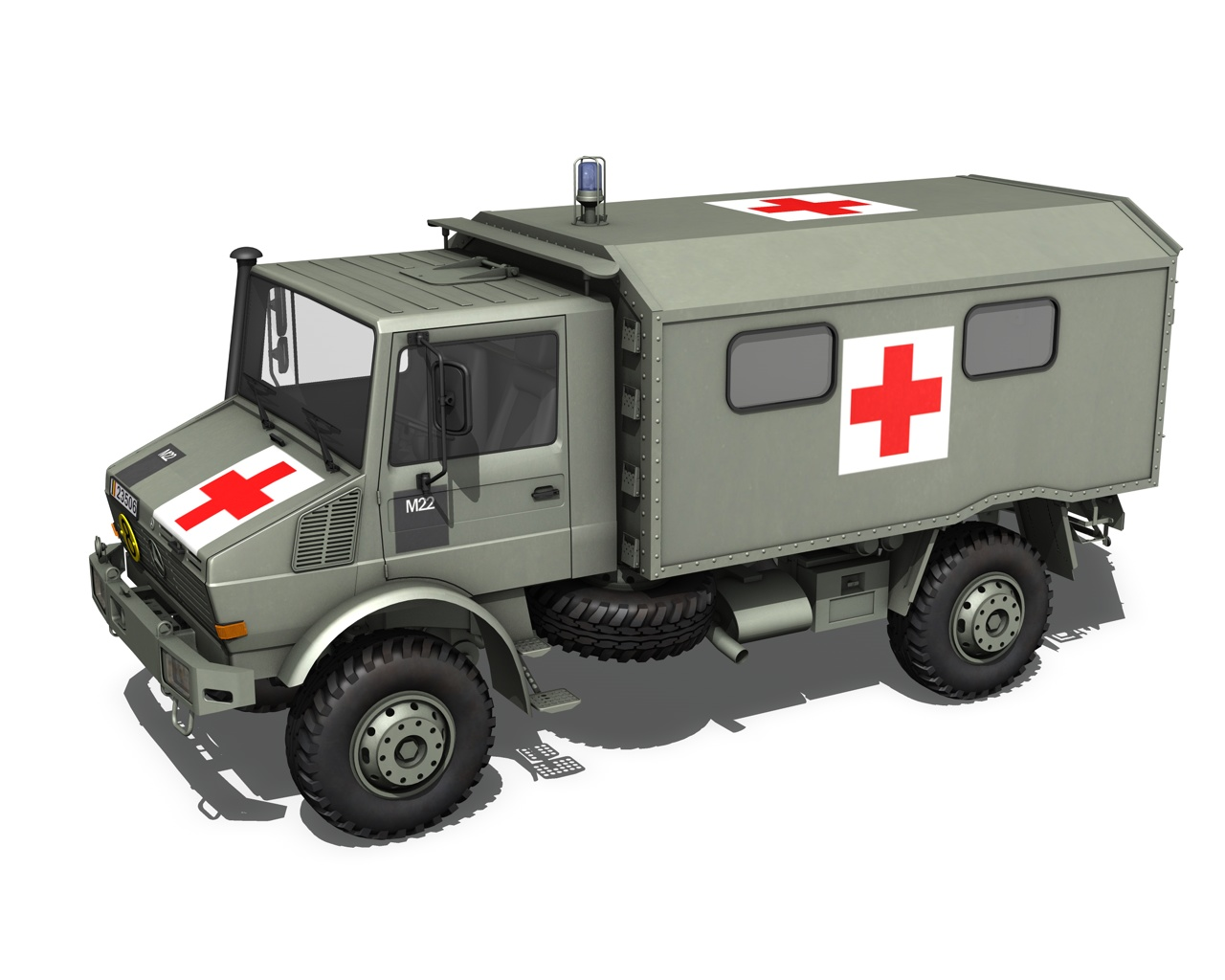 Mercedes benz unimog belgian ambulance 3d model buy for Mercedes benz military vehicles