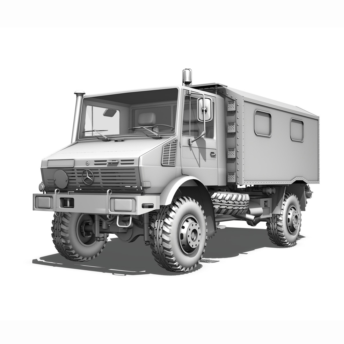 mercedes benz unimog u1300l – ambulance trailer 3d model 3ds fbx c4d lwo obj 189594