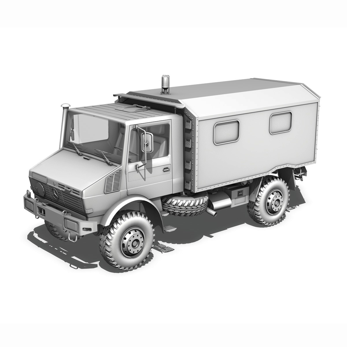 mercedes benz unimog u1300l – ambulance trailer 3d model 3ds fbx c4d lwo obj 189595