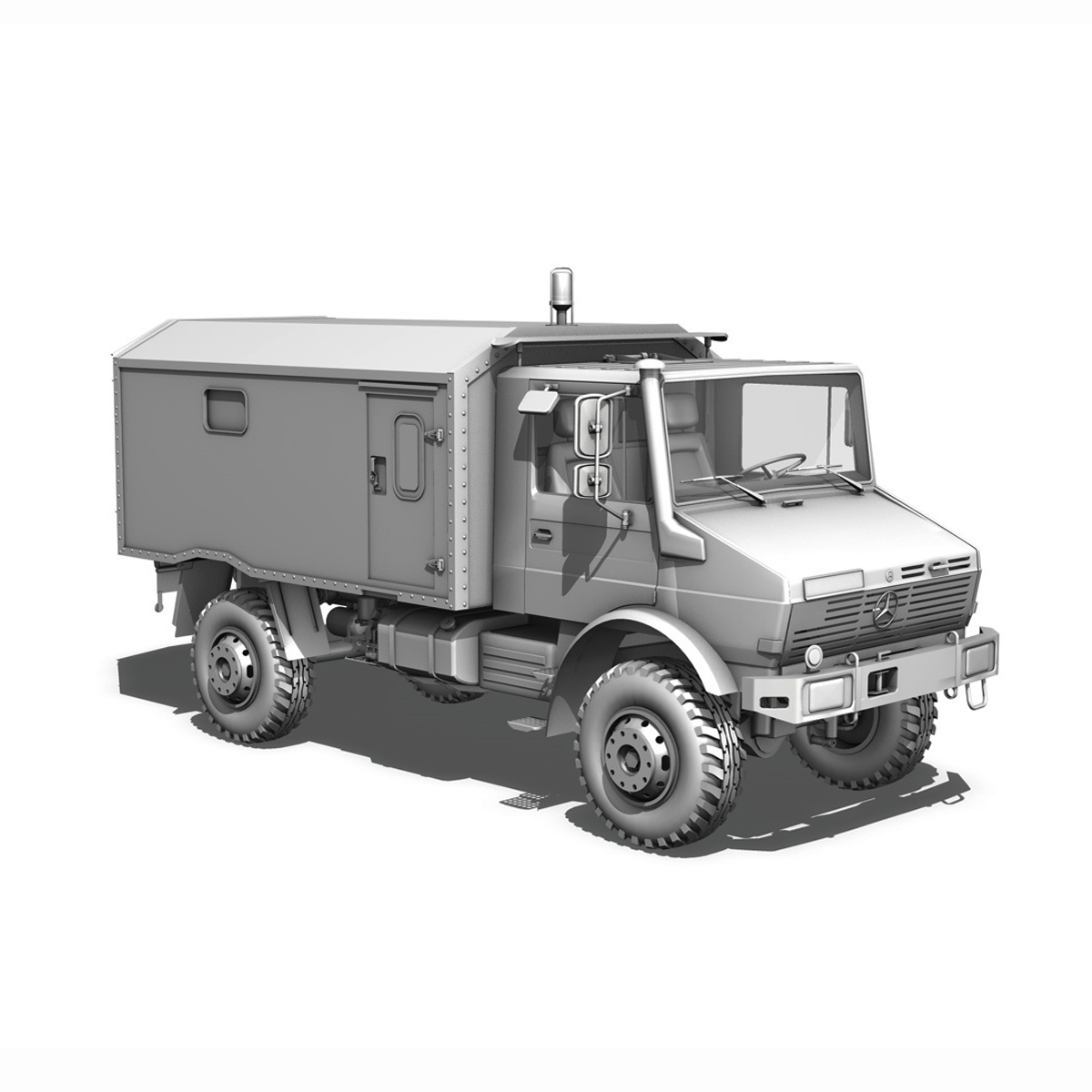 mercedes benz unimog u1300l – ambulance trailer 3d model 3ds fbx c4d lwo obj 189596