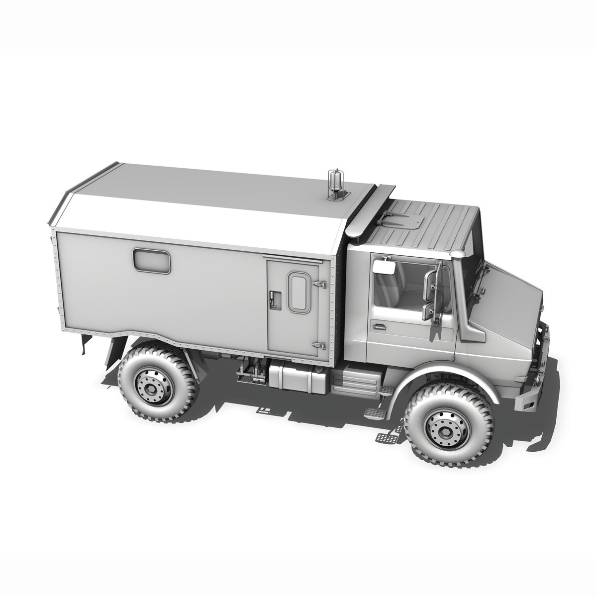 mercedes benz unimog u1300l – ambulance trailer 3d model 3ds fbx c4d lwo obj 189597