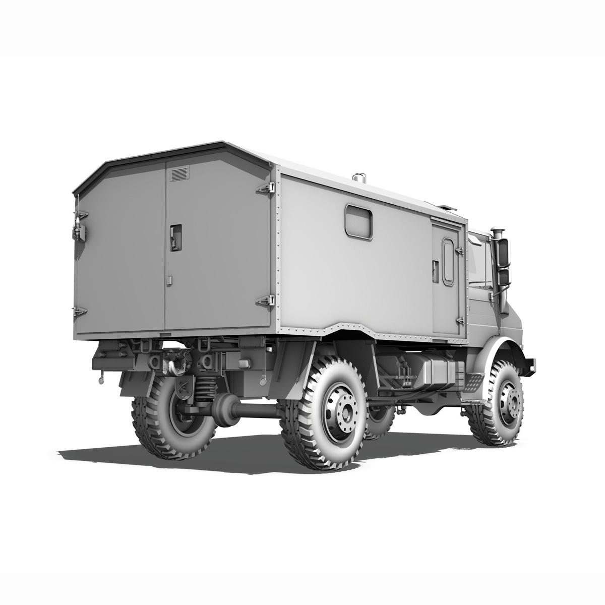 mercedes benz unimog u1300l – ambulance trailer 3d model 3ds fbx c4d lwo obj 189598