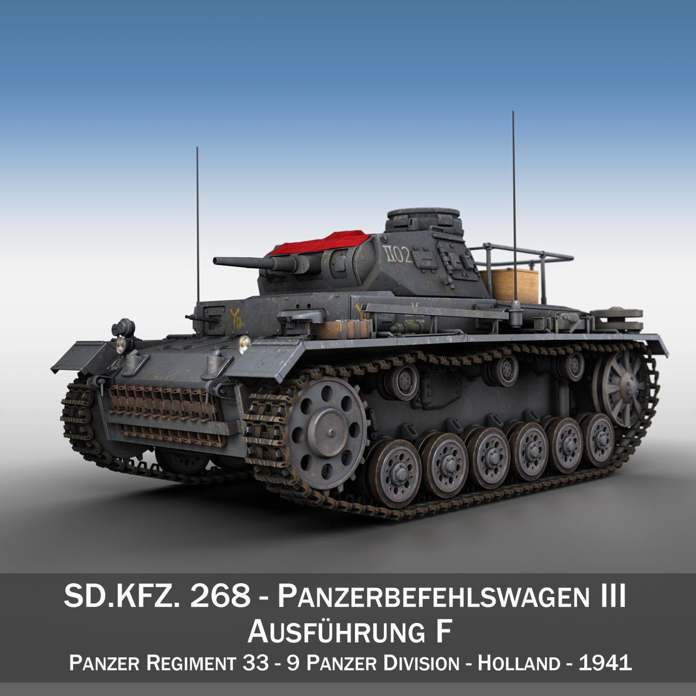 pzbefwg iii – ausf.f – 9 pzdiv 3d model 3ds fbx c4d lwo obj 189629