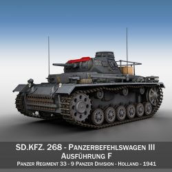 PzBefWg III - Ausf.F - 9 PzDiv 3d model 0