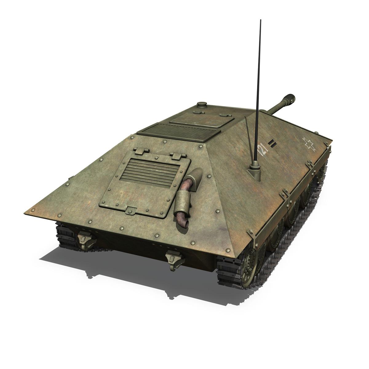 maresal m06 – romanian tank destroyerr 3d model 3ds fbx c4d lwo obj 189663