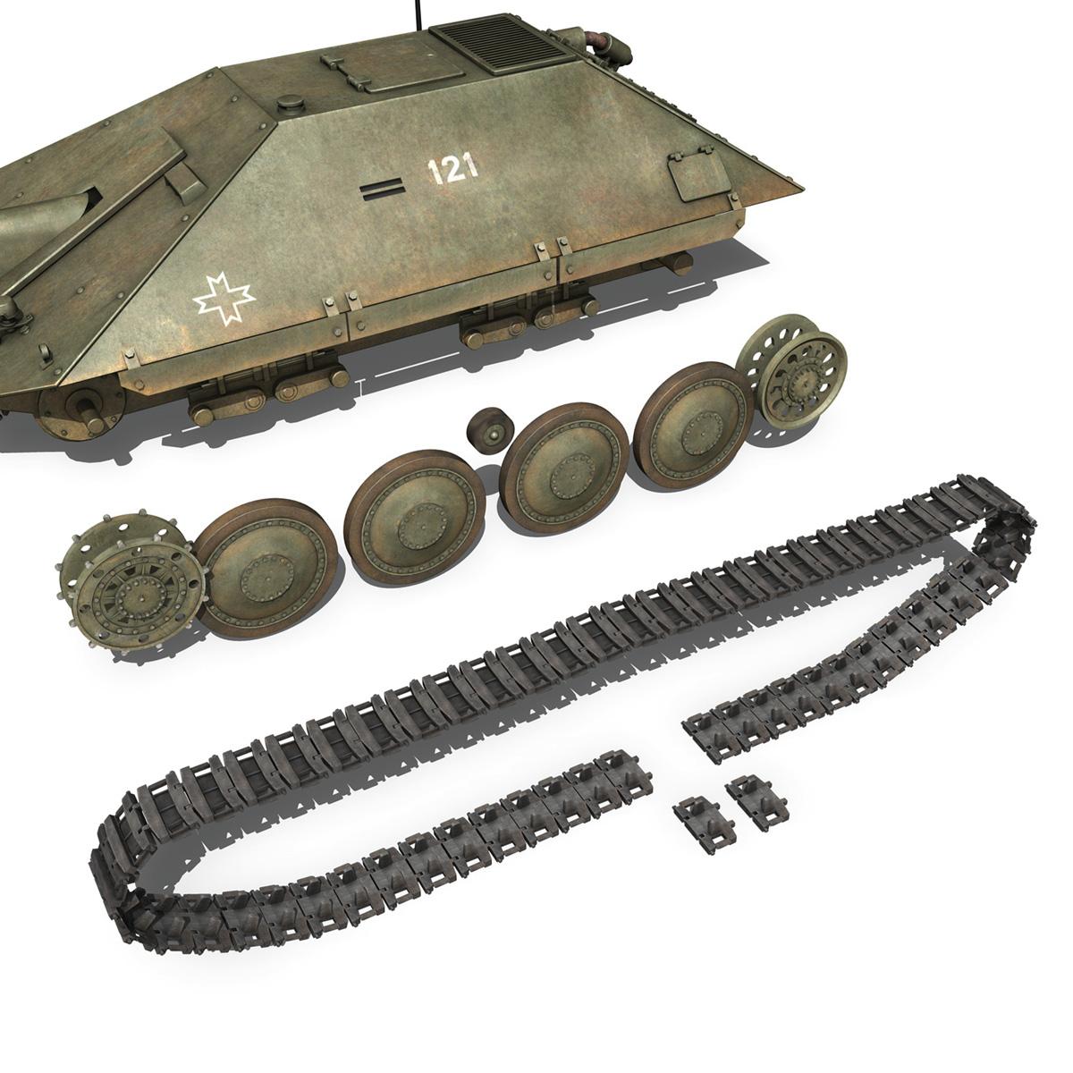 maresal m06 – romanian tank destroyerr 3d model 3ds fbx c4d lwo obj 189666