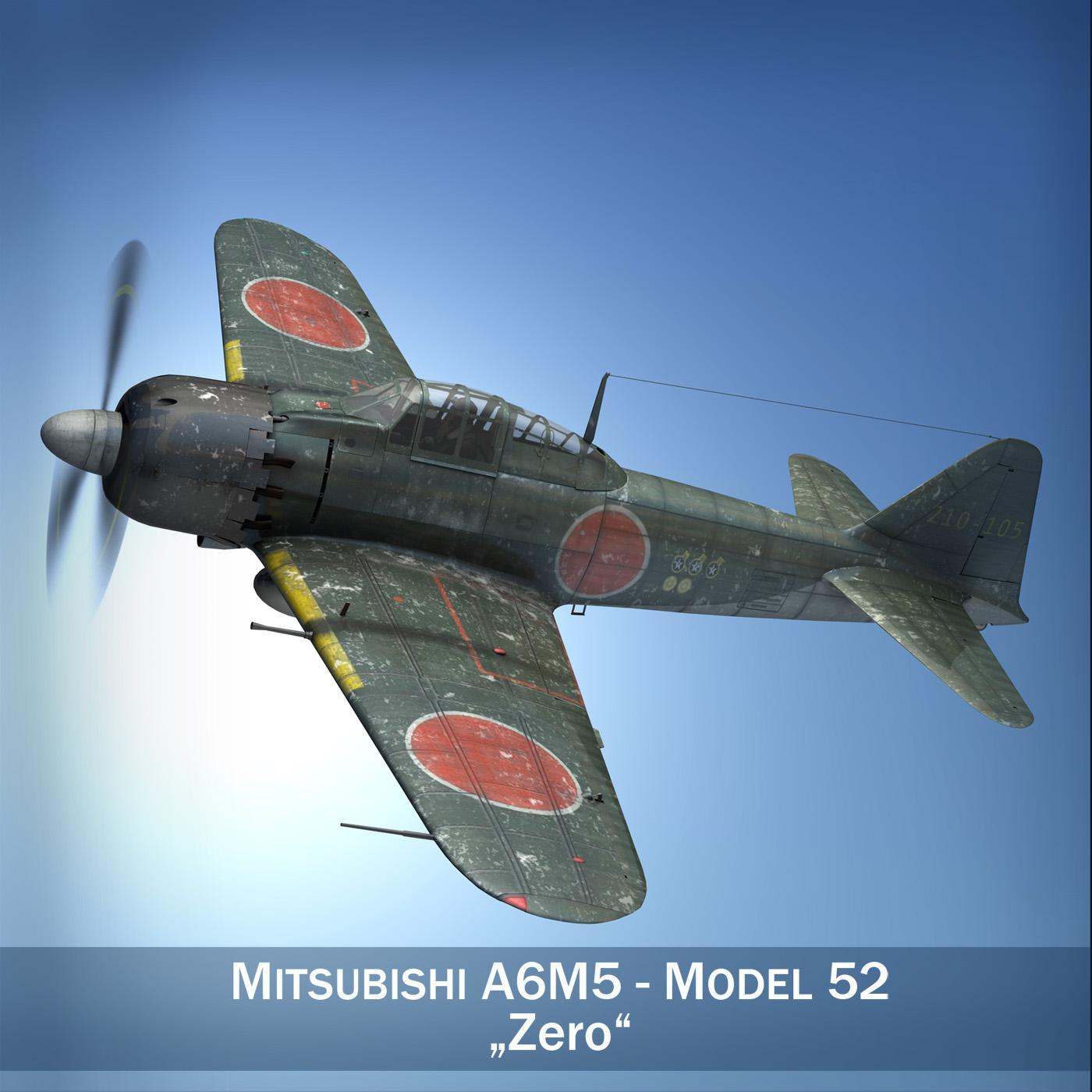 mitsubishi a6m5 nulle 3d modelis 3ds fbx c4d lwo obj 189918