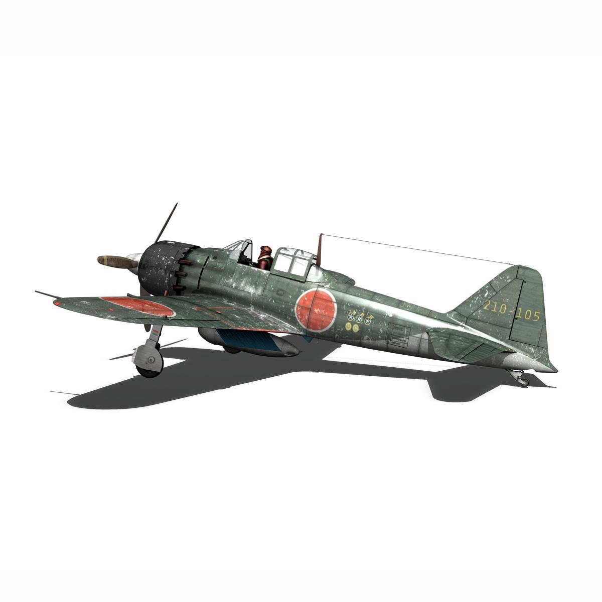 mitsubishi a6m5 zero 3d model 3ds fbx c4d lwo obj 189921