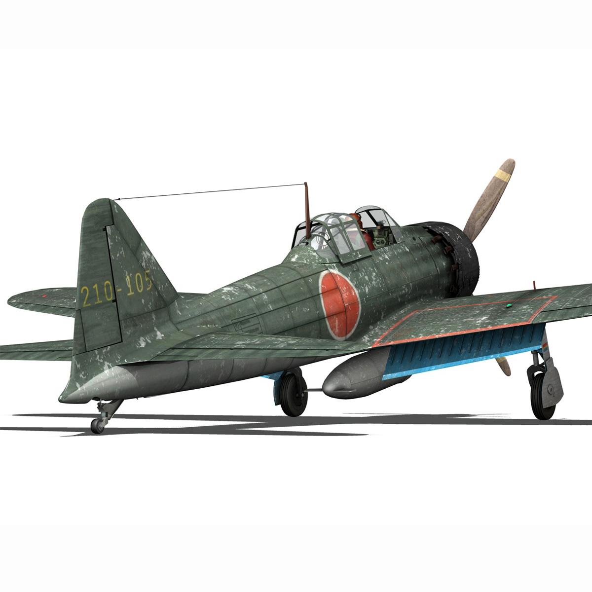 mitsubishi a6m5 zero 3d model 3ds fbx c4d lwo obj 189922